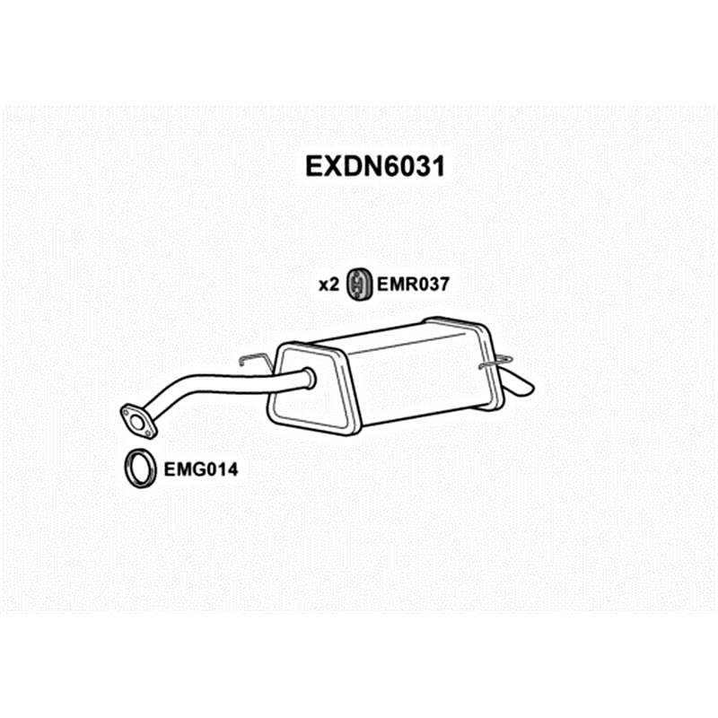Nissan Micra Note 1 0 1 2 1 4 1 5dc Exhaust Silencer Rear Box Tail